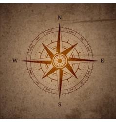 Retro navigation compass vector image