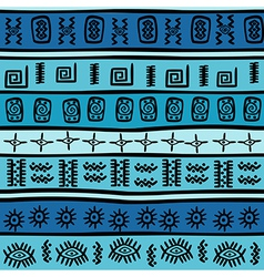 Seamless with tribal motifs vector image vector image