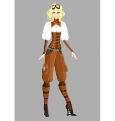 Steam punk girl vector