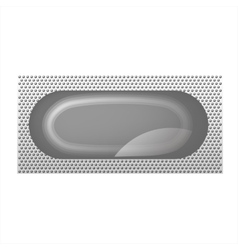 The layout of the package for the condom isolated vector image
