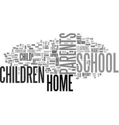 Why home school your child text word cloud concept vector