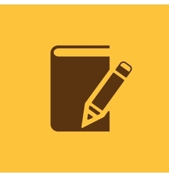 Notebook icon design diary and sketchpad vector