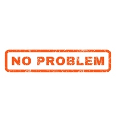 No problem rubber stamp vector