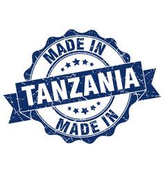 Made in tanzania round seal vector