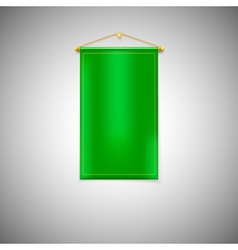 Green pennant on white background vector