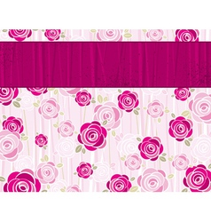 Pink valentine background with roses vector