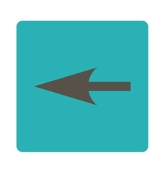 Sharp left arrow flat grey and cyan colors rounded vector