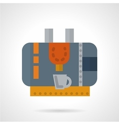 Coffee machine abstract flat icon vector