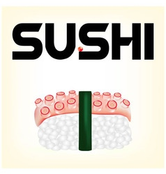 Sushi with an octopus vector