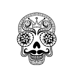 Dead skull  hand drawn skull vector