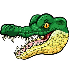 Cartoon angry crocodile mascot vector image