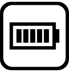 Battery icon -  flat design eps 10 vector