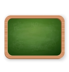 School blackboard isolated on white vector