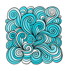 abstract hand drawn ornament background for your vector image vector image