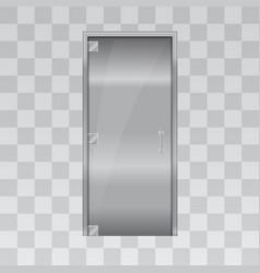 Aluminium door and chrome door vector
