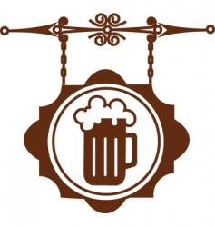bar sign post vector image vector image