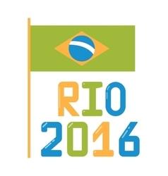 Brazil olympic flag flat vector