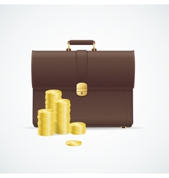 briefcase cuitcase and money concept vector image
