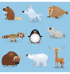 cartoon wild animals vector image
