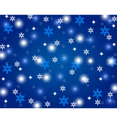 Christmas shiny blue background vector image
