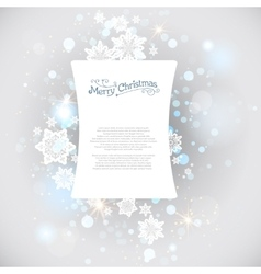 Christmas snow backdrop vector image
