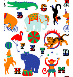 circus cartoon animals vector image vector image