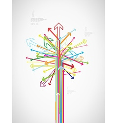 Colorful arrow tree created with place for your vector image vector image