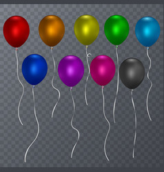 colorful realistic helium balloons isolated vector image