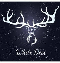 deer White silhouette vector image vector image