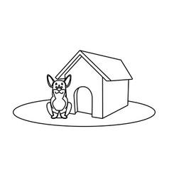 Dog house cartoon vector