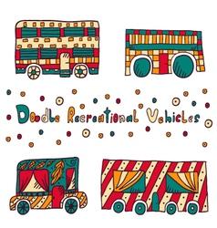 Doodle recreational vehicles-9 vector