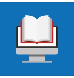 Education online global book vector
