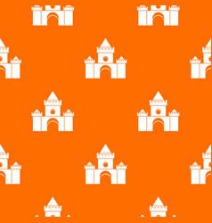 Fairytale castle pattern seamless vector