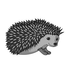 hedgehoganimals single icon in monochrome style vector image vector image