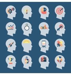 Idea Head Icons vector image
