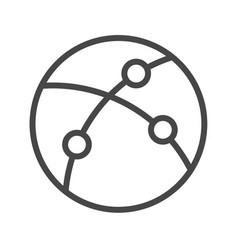 internet thin line icon vector image