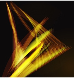Lines shapes lighting abstract on golden dark vector image vector image