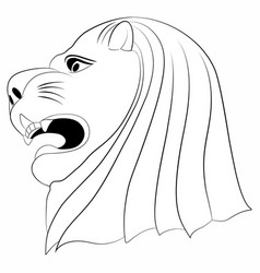 lion face tattoo vector image vector image