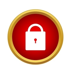 Lock icon simple style vector image vector image