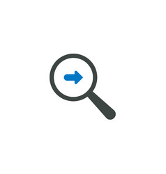 Magnifying glass icon right arrow icon vector