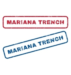 Mariana trench rubber stamps vector