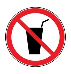no drink sign vector image