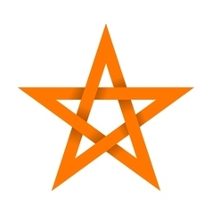 Orange star with shadow on intersections vector image