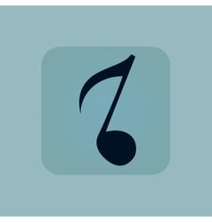 Pale blue 8th note icon vector