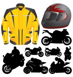 race motorcycle vector image