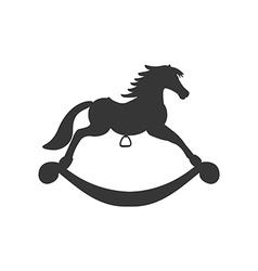 Rocking horse icon vector