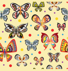 seamless pattern with colorful beautiful vector image vector image
