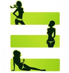 set girls vector image vector image