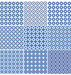 set of seamless pattern endless texture background vector image