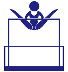 Sport icon for gymnastics on uneven bars vector